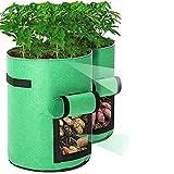 Tvird Sacchetti per Coltivazione Patate, Piantapatate Sacchi per Piante di Tessuto Non Tessuto, Grow Borse di Piantapatate Contenitore Patate Adatte per Patate, Carote, pomodori (2 Pack,10 Galloni)