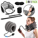 Neck Traction Devices 4 in 1 Value Pack Including Neck Head Hammock & Cervical Neck Traction Device, Helps for Chronic Neck Pain Relief, Neck Support, Relieve Stress, Headaches, with Eye Mask