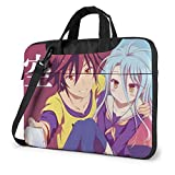 XCNGG No Game No Life Anime Laptop Hombro Messenger Bag Tablet Almacenamiento de computadora Mochila Bolso de Mano 15.6 Pulgadas