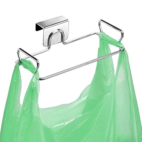 Large Stainless Steel Trash Bag Holder for Kitchen Cabinets Doors...