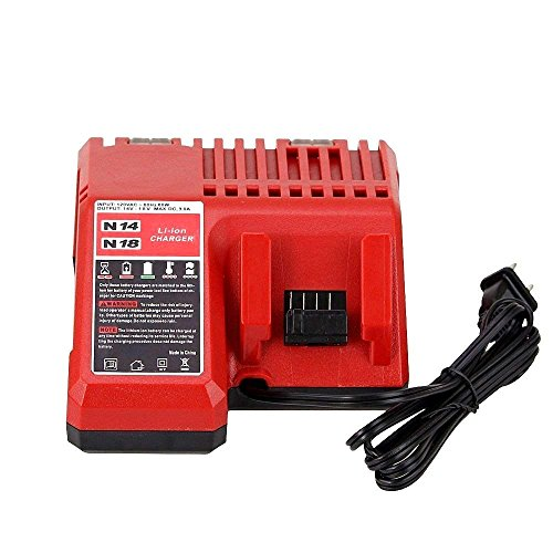Flylinktech Replacement M18 Battery Charger for Milwaukee 18V...