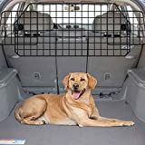 Gtongoko Adjustable Dog Car Barriers for SUV,Vehicles,Cars,Heavy Wire Mesh Universal Vehicle Separator,Pet Compartment Door in Cargo Area of Vehicle Trunk,Black