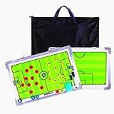 RoseFlower Carpeta Táctica de Futbol, Carpeta Pizarra Táctica de Entrenamiento Entrenador Magnéticas de Fútbol con Imanes, Lapiceros y Borrador (Tamaño: 45 x 30 cm)