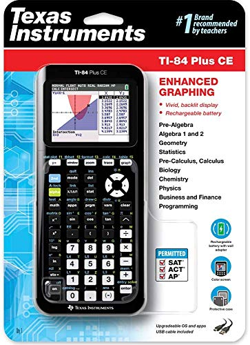 Texas Instruments TI-84 Plus CE Color Graphing Calculator,...
