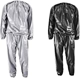 XINSHUN Sweat Sauna Suits Weight Loss Gym Exercise for Men and Women (Black XX-Large)