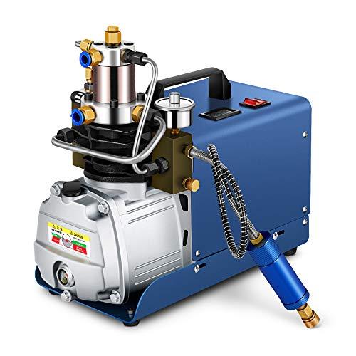 HOOMYA 30MPA 4500PSI 80 l/min Hochdruck Luftkompressor Pumpe, Elektrische Hochdruck Luftpumpe für die Aufblasflasche, PCP Inflator Pneumatische Luftpistole Tauchergewehr