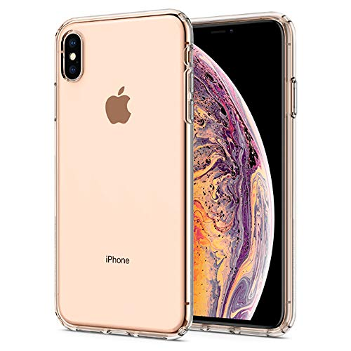 【Spigen】 スマホケース iPhone XS Max ケース 対応 TPU 超薄型 超軽量 クリア リキッド・クリスタル 065CS25122 (クリスタル・クリア)