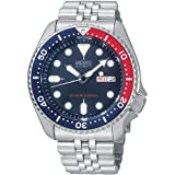 Seiko 21 Jewels Self-Winding Automatic Movement (Calibre 7S36) Stainless Steel Case, Resin Strap Hardlex Mineral Crystal, Day/Date Display with Arabic Option, Luminous Hands and Markers, Uni Directional Turning Bezel Case Size: 42 mm Diameter, 12 mm ...