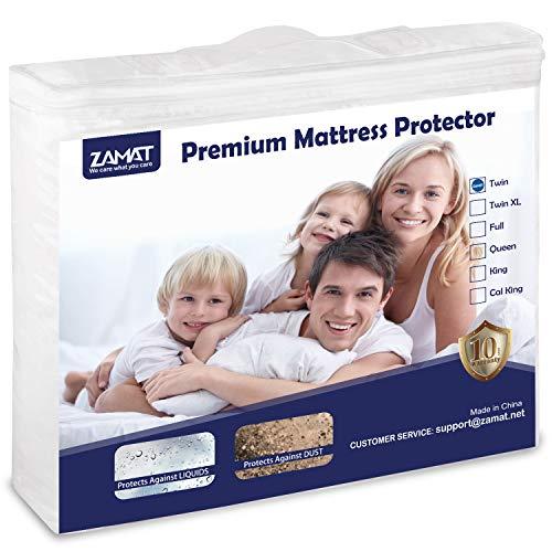 ZAMAT Premium 100% Waterproof Mattress Protector