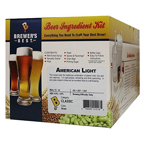 Brewer's Best - Home Brew Beer Ingredient Kit (5 Gallon), (American Light)