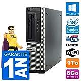 Dell PC OptiPlex 390 DT G630 RAM 8Go Disque Dur 1To HDMI Windows 10 WiFi (Reconditionné)