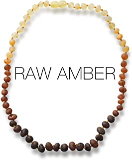 Meraki Baltic Amber Necklace – Raw Unpolished Baroque Baltic Amber Necklace |..