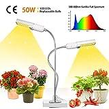 50w Plant Grow Light, Lampe de Plante,Paquet de 2 ampoules de spectre à...