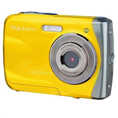 Easypix W1024 - Fotocamera Impermeabile, Stagna A 3 Metri Senza Custodia, Giallo