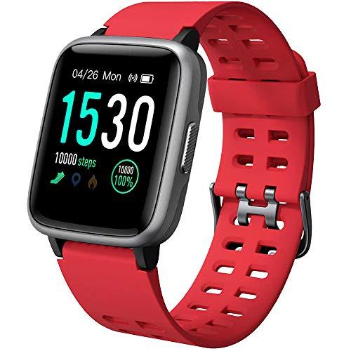 YAMAY Smartwatch Orologio Fitness Uomo Donna Impermeabile IP68 Activity Tracker Cardiofrequenzimetro da Polso Contapassi per Android iOS Smartphone 14 modalit Sportive Salute Femminile Cronometro
