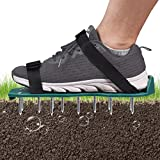 Mdikawe Lawn Aerator Shoes, 26 Spikes Aerating Lawn Sandals for Lawn Aerating, One Size Fits All Lawn Aerator Spike Shoes with 2 Adjustable Straps, Easy Use for Yard and Garden