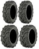 Full set of ITP Mud Lite XTR (6ply) 26x9-12 and 26x11-12 ATV Tires (4)