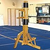 Flex HQ Adjustable Wing Chun Dummy Mook Yan Jong IP Man Training Target Wood Base (Wood)