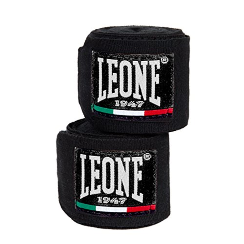 LEONE 1947AB705- Vendas de Boxeo, Color Negro, tamaño 2,5m