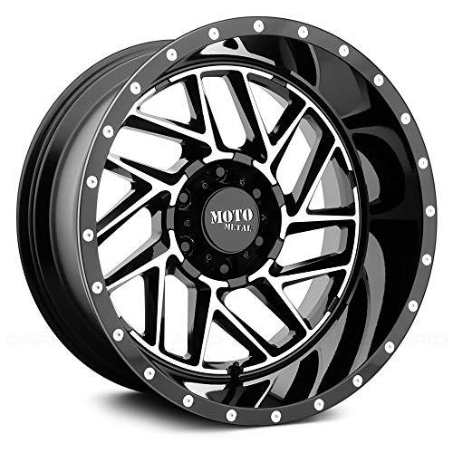 Moto Metal MO985 20x10 6x139.7 -18mm Black/Machined Wheel Rim