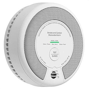 X-Sense Détecteur de Fumée et de Monoxyde de Carbone 10 Ans, Détecteur de Fumée et de CO avec Bouton de Test, 2-en-1, Installation Facile, Vérification Automatique, SC06