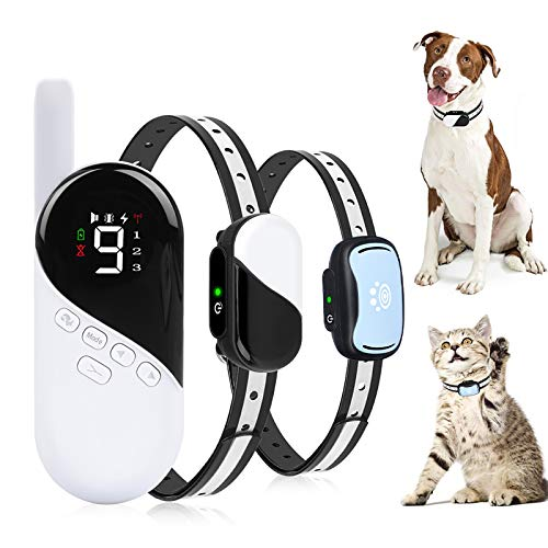 Pumila Dog Training Collar - Rechargeable Dog Shock Collar w/3 Modes, Beep, Vibration and Shock, Waterproof Pet Behaviour Training for Extra Small, Medium, Large Dogs