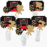 Red Carpet Hollywood - Movie Night Party Centerpiece Sticks - Table Toppers - Set of 15