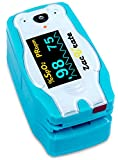 Zacurate Children Digital Fingertip Pulse Oximeter Blood Oxygen Saturation Monitor with Adorable Animal Theme...