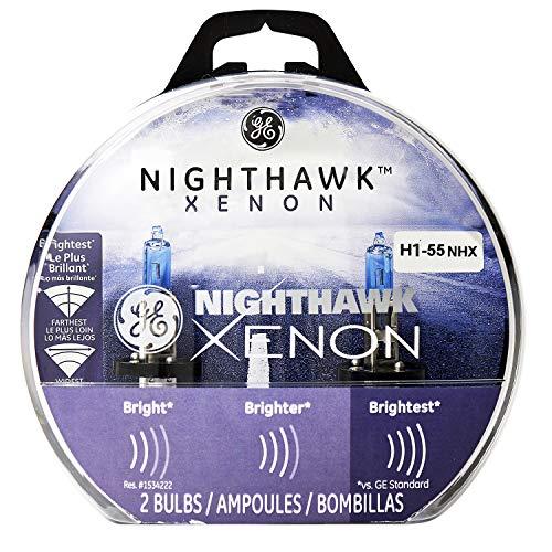 GE Lighting H1-55 NHX/BP2 Nighthawk Xenon Halogen Automotive Replacement Bulbs, 2-Pack