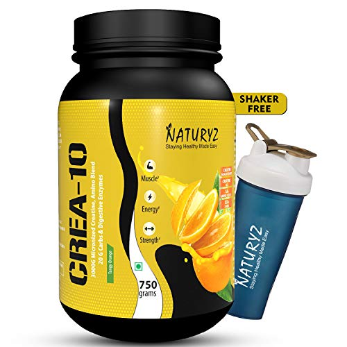 Naturyz Crea10 Creatine Supplement with Micronized Creatine Monohydrate and HCL, 5g Amino Blend, 20g...