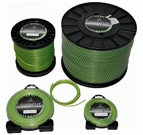Sharkcut, filo per decespugliatore professionale, in alluminio, filo di nylon, rotondo, 4 mm,...