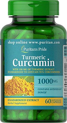 Puritan's Pride Turmeric Curcumin 1000 Mg W/Bioperine Capsules, 60 Count