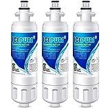 ICEPURE Refrigerator Water Filter, Compatible with KENMORE 9690, LG LT700P, ADQ36006101, ADQ36006102, 46-9690, WSL-3, LFXS30766S, LFXC24726D, LFXC24726S, LFXS24623S, RWF1200A, Pack of 3