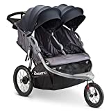 Joovy Zoom X2 Double Jogging Stroller, Double Stroller, Extra Large Air Filled Tires, Forged Iron