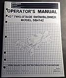 1998 HONDA 42' TWO-STAGE SNOWBLOWER SB4142 OPERATORS MANUAL P/N 31HA460SB (648)