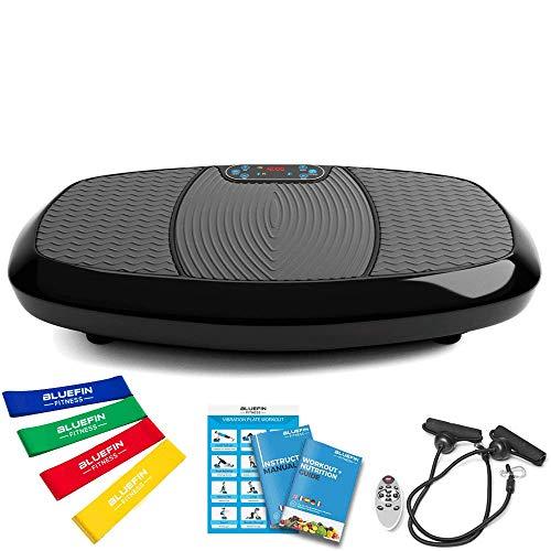 Bluefin Fitness Dual-Motor 3D Vibrationsplatte   Extra Große Anti-Rutsch-Oberfläche   Bluetooth Lautsprecher...