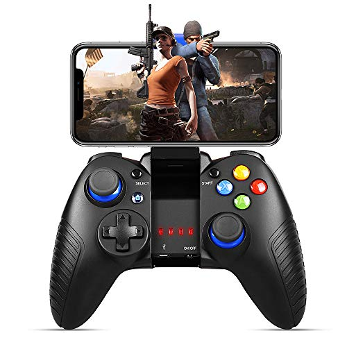 Mobile Game Controller, PowerLead Gaming Controller Wireless 4.0 Gamepad Compatible with iOS Android iPhone iPad Samsung Galaxy (Black)