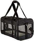 AmazonBasics Soft-Sided Mesh Pet Travel Carrier, Medium (17 x 10 x 10 Inches), Black