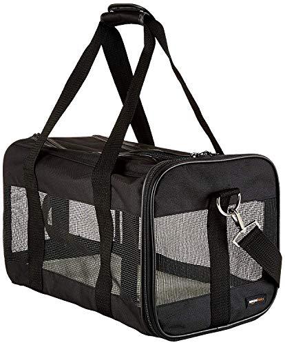 AmazonBasics Sac de transport à parois souples pour animal de compagnie Noir TailleM