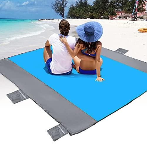 POPCHOSE Sandfree Beach Blanket, Large Sandproof Beach Mat for...