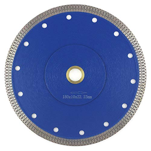 7 Inch Tile Blade, Porcelain Blade Super Thin Tile Cutter for Grinder Dry or Wet Ceramic Diamond Saw Blades With Adapter 7/8',20mm,5/8 Inch Abor(7 inch)