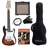 Rocktile Sphere Junior Guitare Eléctrique 3/4 Sunburst SET avec ampli, cable et sangle