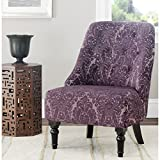 Safavieh Mercer Collection Stacy Armless Club Chair, Indigo/Purple
