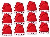 Lot de 12 Bonnets de Noel (wm-15) Lumineux avec LED Chapeau de Père Noël pour...