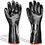 BBQ Gloves 14 Inches Cooking Barbecue Gloves, 932℉, Waterproof, Fireproof, Heat Resistant-Smoker,...