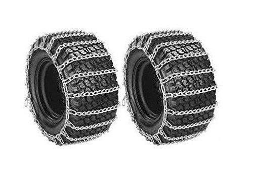 New PAIR 2 Link TIRE CHAINS 20x10.00x8 for Garden Tractors / Riders / Snowblower ;supply_by_theropshop
