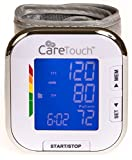 Care Touch Fully Automatic Wrist Blood Pressure Cuff Monitor - Platinum Series, 5.5' - 8.5' Cuff Size- Batteries Included