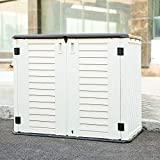 Kinying Horizontal Outdoor Storage Shed for Garden, Patios, Backyards,...