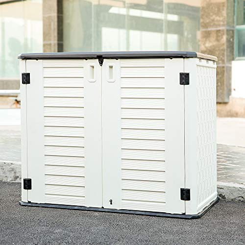 Kinying Horizontal Outdoor Storage Shed
