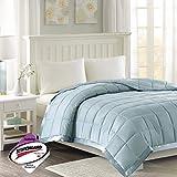 Madison Park Windom Microfiber Down Alternative Stain Resistant Blanket, King, Blue